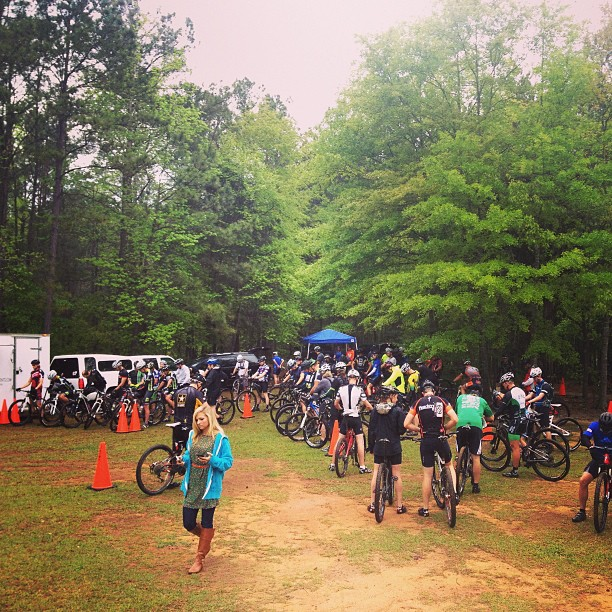 Tons of racers here for CAMP's Chewacla Challenge. #camp #imba #goalfest
