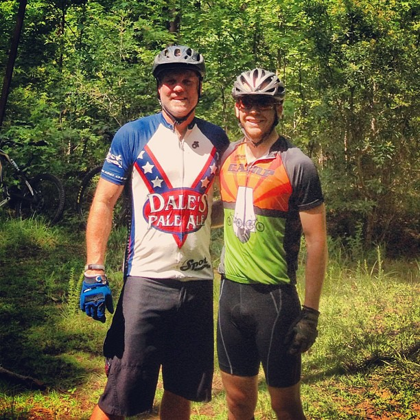 Great day riding with Dale, the owner of Oskar Blues, at Chewacla!