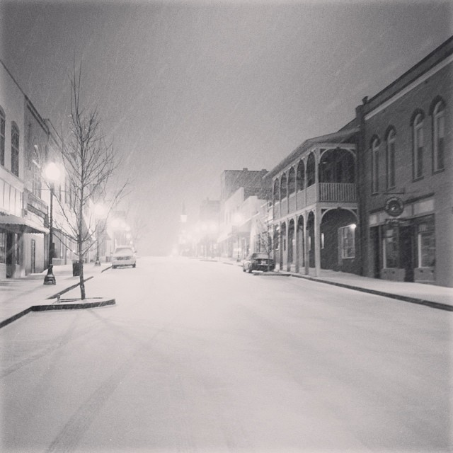 You have to admit, O-Town is beautiful in the snow.