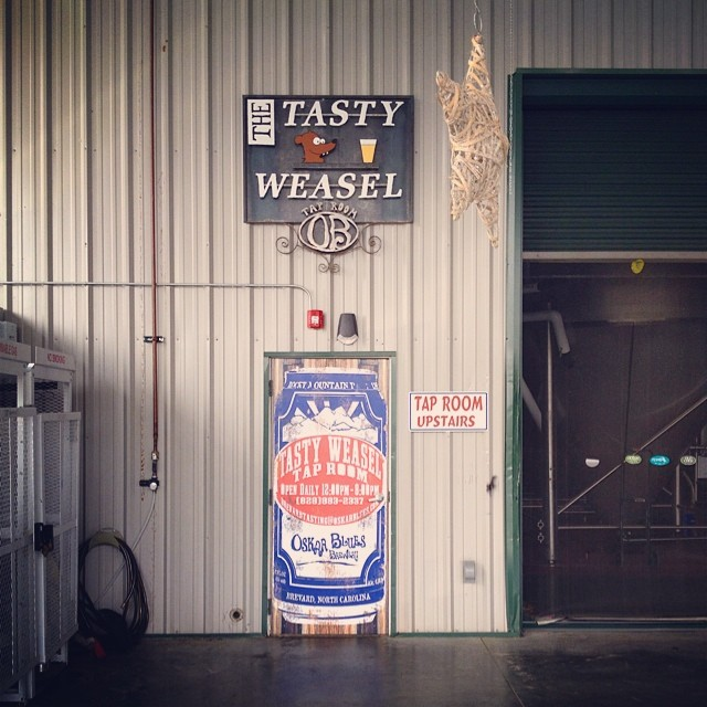 Stopped by @oskarblueswnc for a post ride brew.