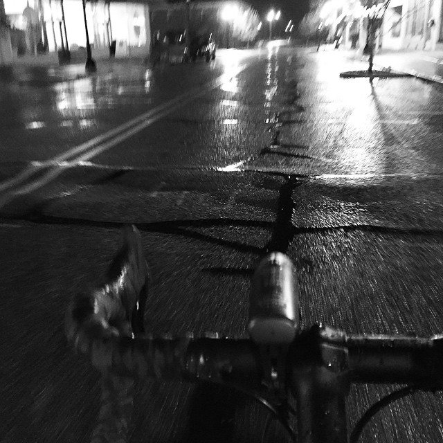 Wet and late but got a ride in. #30daysofbiking