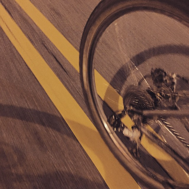 Down the middle of the road. #30daysofbiking