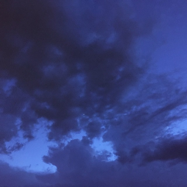 Summer storm blues.