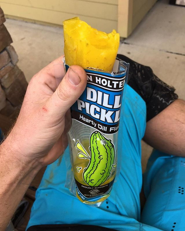 Sometimes a mid ride pickle break is required.